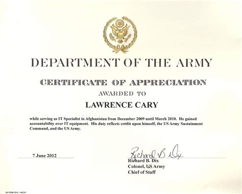 army certificate of appreciation template army certificate of appreciation template exle mughals
