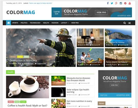 News Site Template Free by 15 Best Free Responsive Magazine Themes 2016