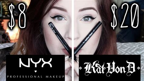 kat von d tattoo liner youtube nyx epic ink liner vs kat von d tattoo liner lasting