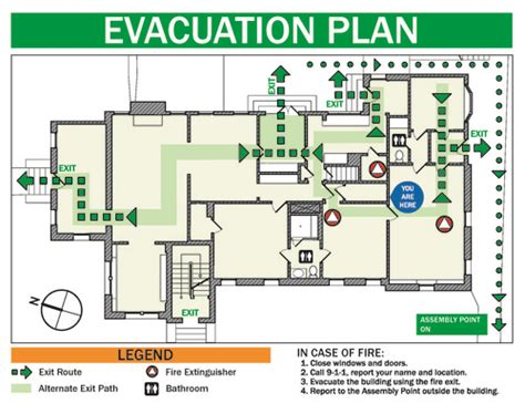 fire evacuation floor plan emergency exit plan diagram fire plan diagram elsavadorla