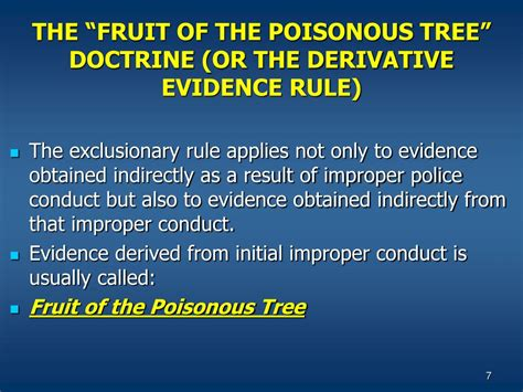 fruit of the poisonous tree doctrine ppt chapter 9 powerpoint presentation id 687906