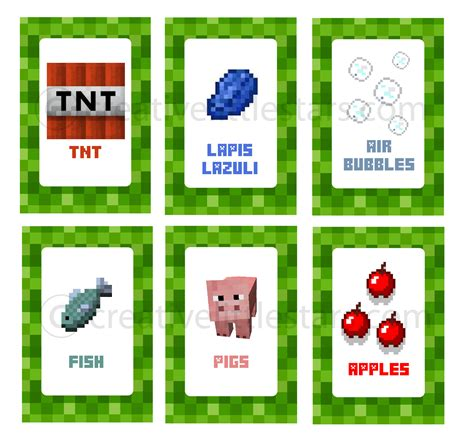 Minecraft Food Label Templates