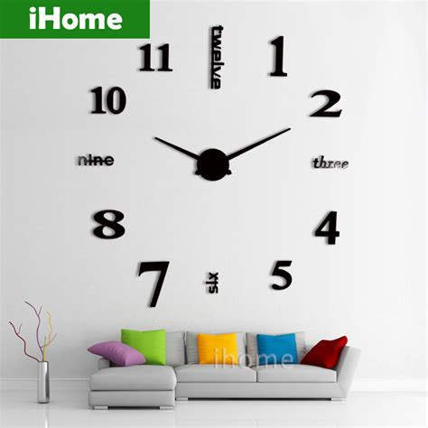 buy hanslin large number metal wall clock online at low aliexpress com buy 3d large sticker decorative wall