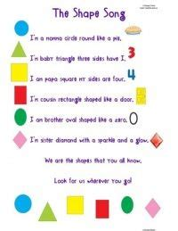 colors and shapes lyrics best 25 shape songs ideas on shapes song 2