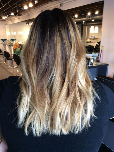 dark with blonde ombre pictures ombr 233 balayage with dark brown root warm blonde balayage