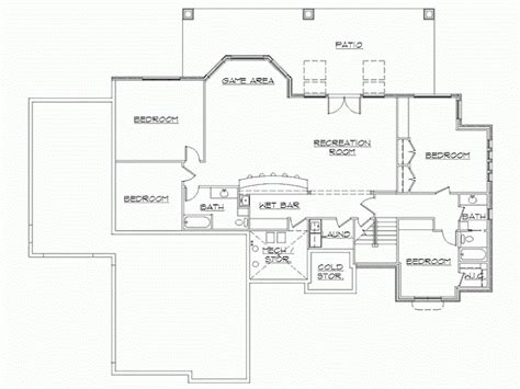 rambler house plans with finished basement by eplans