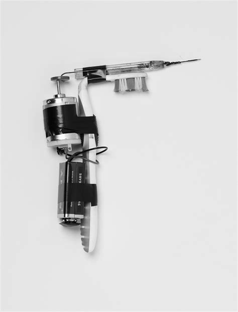 tattoo gun with toothbrush nick quine immigrant complex der greif