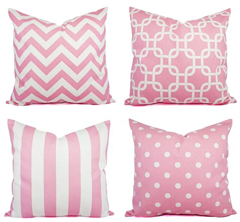 Pink Throw Pillows Baby Pink Throw Pillow Covers Pink By Castawaycovedecor On