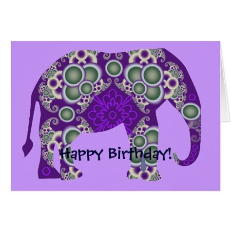 printable birthday cards elephant elephant birthday card zazzle