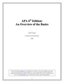 Free Apa Template 6th Edition free apa 5th edition template search engine at search