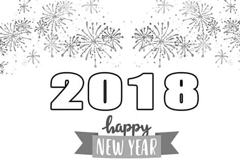 new year clipart black and white happy new year 2018 clipart images free clip banner