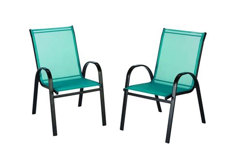 the home depot outdoor sling stack chair in teal the