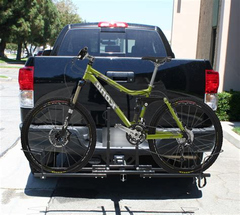 bicycle rack for truck new heavy duty truck suv rv 2 quot hitch mount 2 bike bicycle