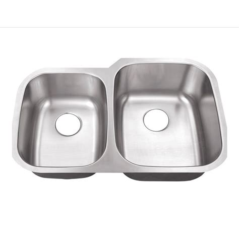 60 40 stainless steel belle foret undermount stainless steel 32 in 0 hole 40 60