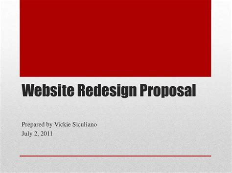 how to prepare a website redesign