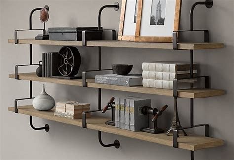wood wall shelving closet wrought iron shelves word