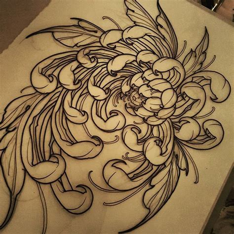 chrysanthemum tattoo best 25 chrysanthemum ideas on