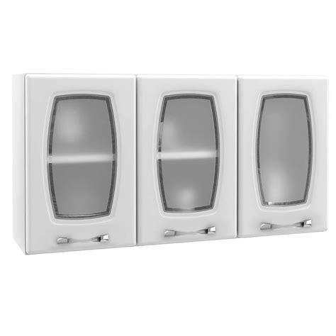 armario telasul arm 225 rio telasul novit 225 3 portas de vidro cozinha