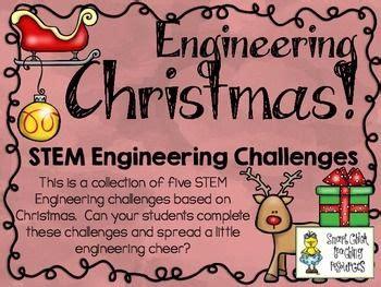 christmas stem stem engineering challenges pack set   elementary teacher