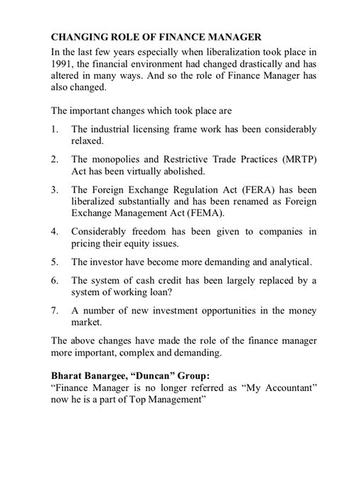 Duties Of Finance Manager by Of Finance Manager Presentation