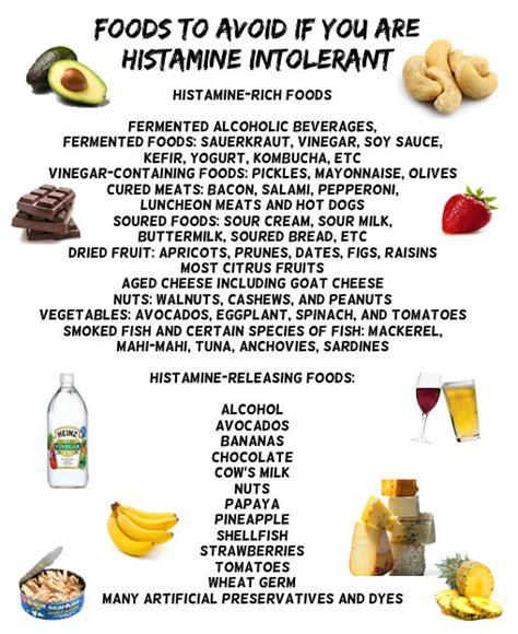 alimenti intolleranti istamina come comportarsi in caso di allergia o