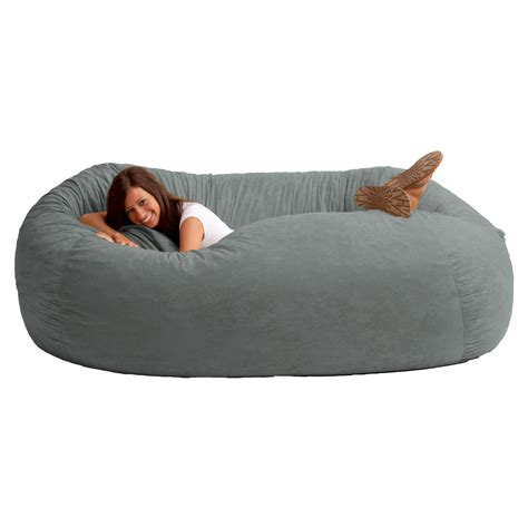 fuf bean bag sofa fuf 7 ft comfort suede bean bag sofa bean bags at