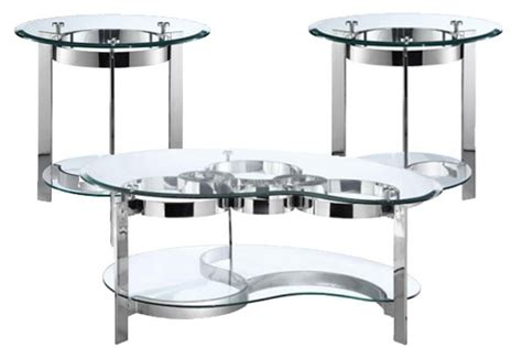 glass cocktail table curvy chrome glass cocktail table at gardner white