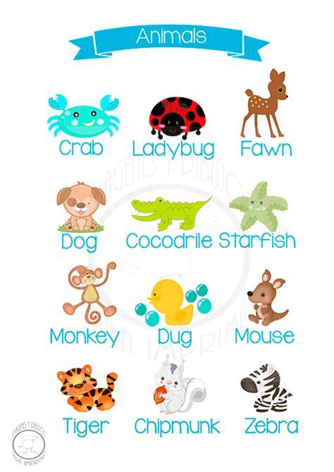 imagenes de ingles para imprimir animales en ingl 233 s