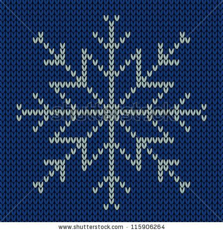 snowflake pattern to knit knitted snowflake seamless background stock vector