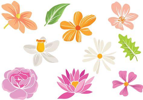 Simple Flower free simple flowers vectors free vector