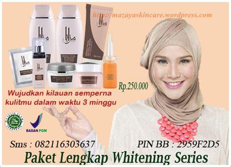 Skin Whitening Series Paket Exclusive paket komplit whitening mazaya skin care