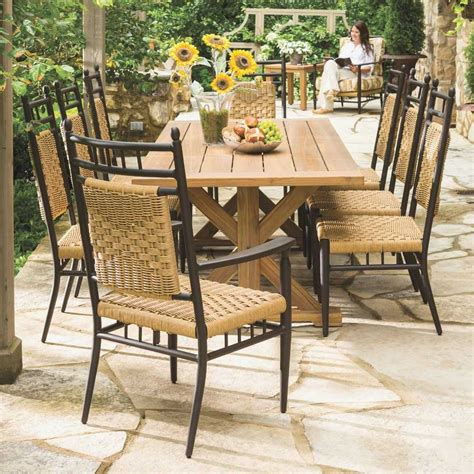 8 chair patio set luxury traditional country farmhouse