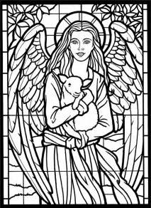 stained glass coloring book free stained glass coloring pages