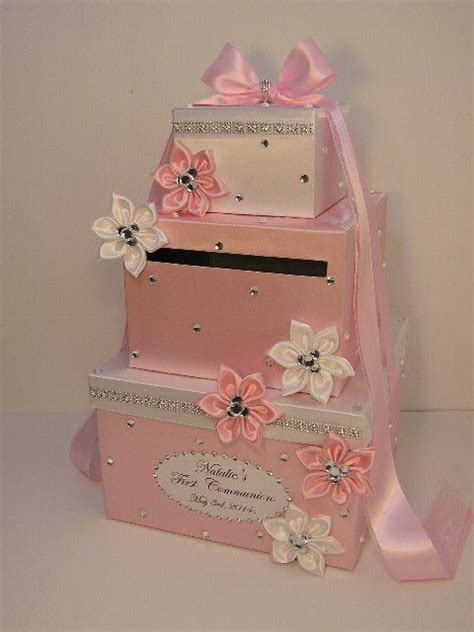 Bridal Shower Money Box by Wedding Card Box White And Light Pink Baby Shower Gift