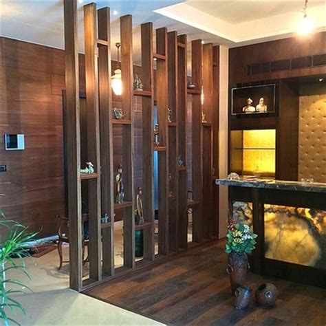 Wall Interior Designs For Home wooden glass partition designs for home crowdbuild for