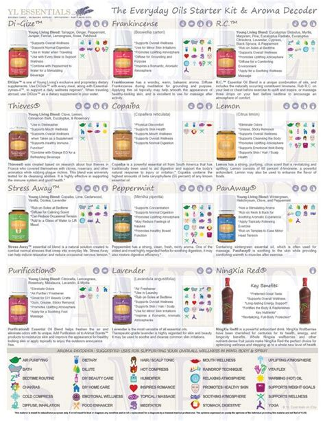 Printable Living Handouts digital flyer wellness with everyday essential oils