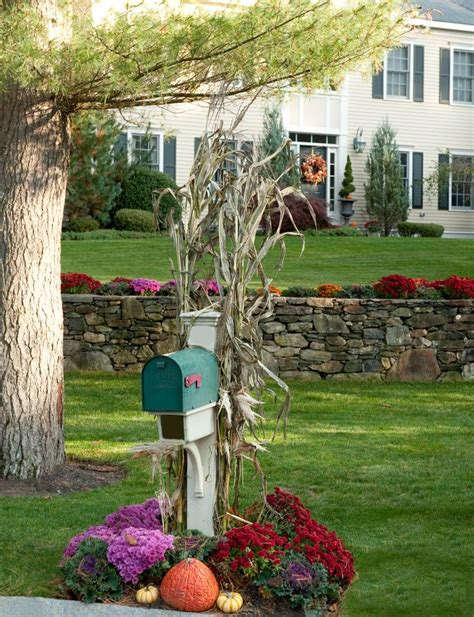 mailbox decorations 20 ways to help create a fall inspired front lawn
