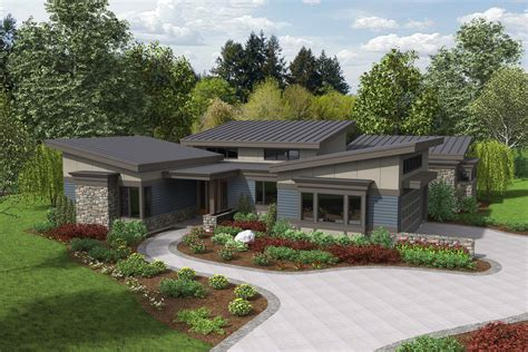 Modern Style House Plan   3 Beds 2.5 Baths 2749 Sq/Ft Plan