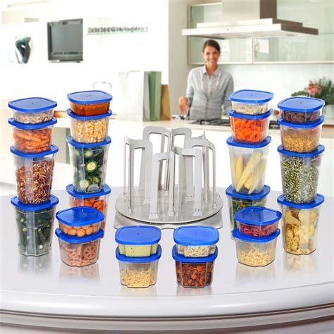 Marvel Spin N Store Kitchen Organizer With 24 Plastic Storage 1 marvel spin n store kitchen organizer with 24 plastic storage jakartanotebook