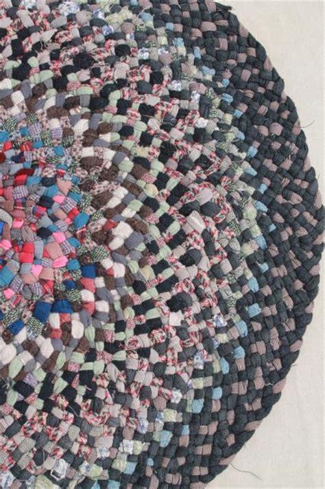 Handmade Braided Rugs For Sale - handmade twined braided rug traditional vintage