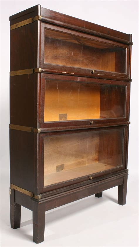 lot 470 globe wernicke 3 stack bookcase