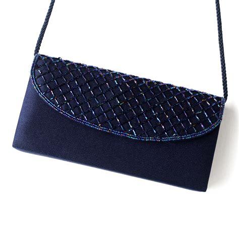 beaded evening bag beautiful navy satin beaded evening bag 213 navy and