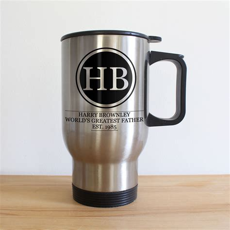 Can You Travel To Republic With A Criminal Record Initials Monogram Silver Travel Mug Treat Republic