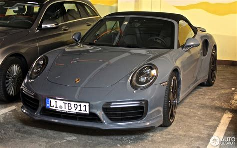 porsche nardo grey porsche 991 turbo s cabriolet mkii 16 march 2016