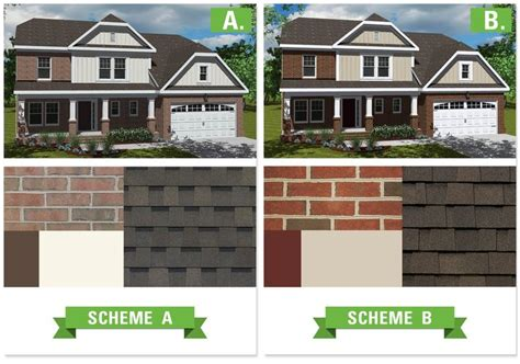 exterior house color schemes with brick clark home design house colors