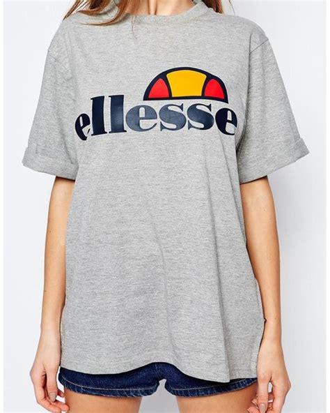 Tshirt Ellesse Oversized Fightmerch ellesse oversized boyfriend t shirt with front logo in gray greymarl lyst