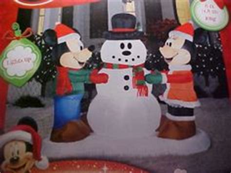 mickey minnie with snowman outdoor decoration disney outdoor decor on mickey mouse garden statues and disney