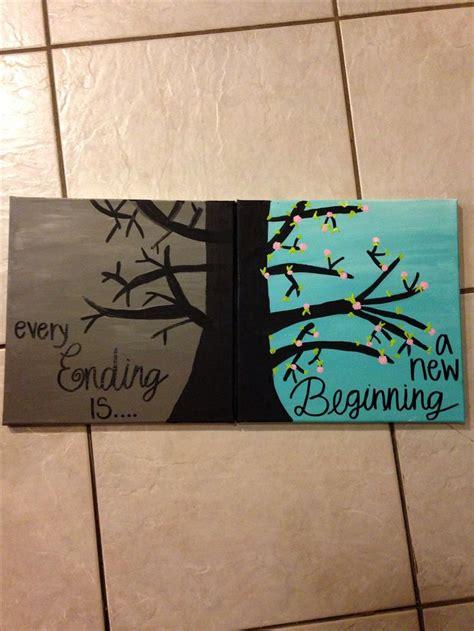 diy crafts canvas trees crafts