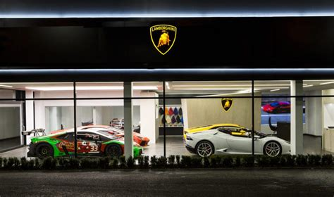 lamborghini dealership lamborghini s latest dealership boasts new corporate design