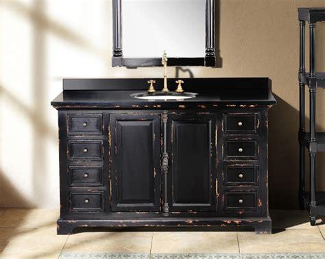Antique Black Bathroom Vanity by 56 Quot Antique Chic Single Bath Vanity Antique Black